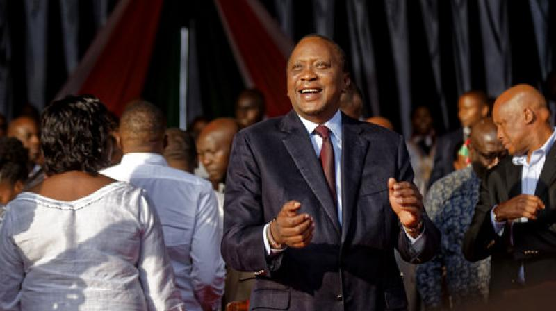 Kenya's President Uhuru Kenyatta attends an evangelical pre-election prayer rally for peace in Nairobi, Kenya. (Photo: AP)