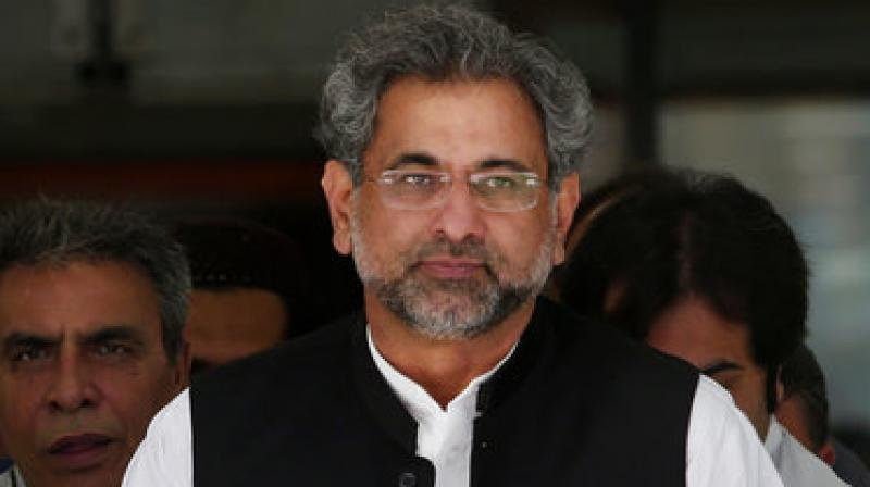 Shahid Khaqan Abbasi said war is not the solution to the decades-long conflict in Afghanistan. His remarks Saturday came a day after he visited Kabul and met with the Afghan leadership. (Photo: File)
