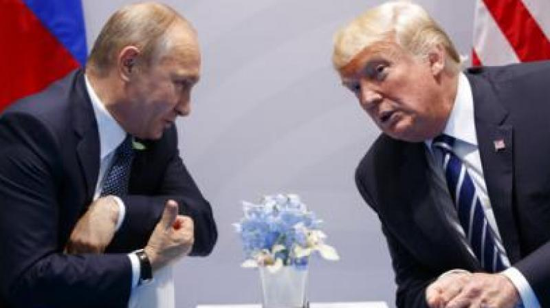 US President Donald Trump with Russian President Vladimir Putin. (Photo: File)