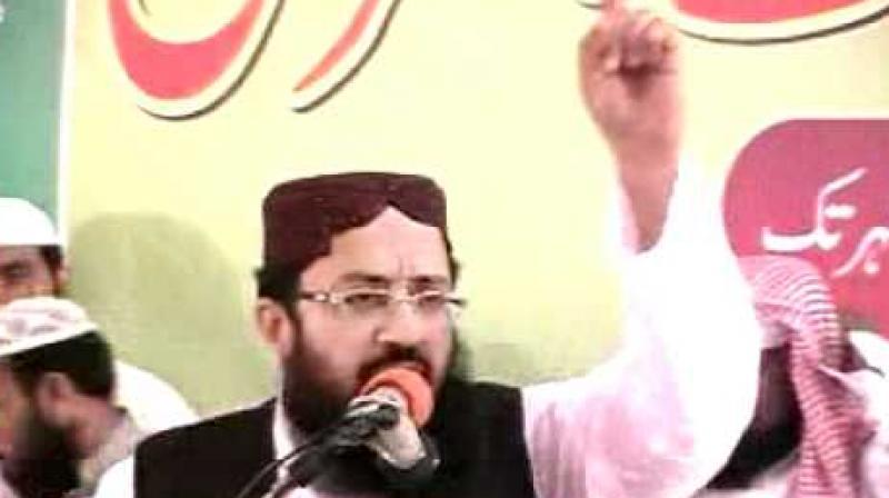 Qari Mohammad Yakub Sheikh is the representative of Jamaat-ud-Dawa (JuD) in the Difa-e-Pakistan Council. (Photo: ANI/twitter)