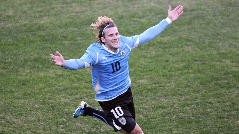 Forlan made 112 appearances for Uruguay and scored 36 goals. He also helped his side to win the Copa America title in 2011. He claimed the Golden Ball at the 2010 World Cup as his side finished fourth. (Photo: AFP)