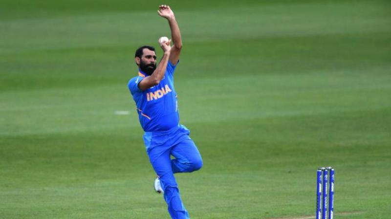 Shami bowled the last over of the game and took a hat-trick while giving away only four runs. (Photo: Cricket World Cup / Twitter)