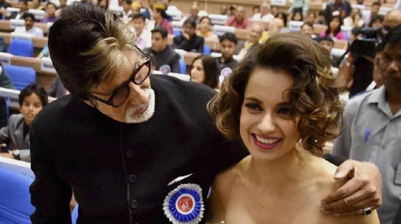 Amitabh Bachchan and Kangana Ranaut.