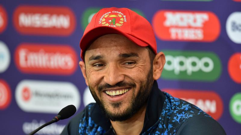 Despite falling just short in their response, the Afghanistan skipper was optimistic about his spinners as they seek their first win of the competition. (Photo: AFP)