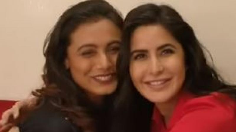 Rani Mukerji and Katrina Kaif's screenshot from the video.