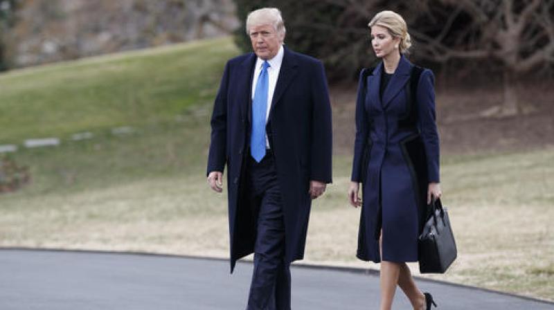 US President Donald Trump and his daughter Ivanka. (AP)