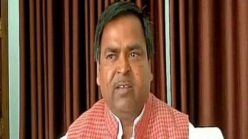 Former minister and SP leader Gayatri Prajapati Photo: ANI/Twitter)