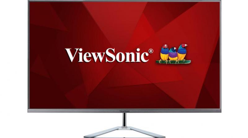 The VX3276-2K-mhd monitor has an architectural inspired design aesthetic combined with form factors such as an ultra-slim profile, frameless bezel, and a triangle stand.