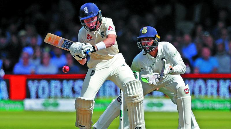 England's Ollie Pope in action during day three of the second test at Lord's in London. (Photo: AP)