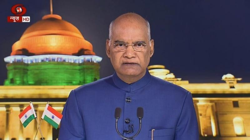 President Ram Nath Kovind. (Photo: ANI)