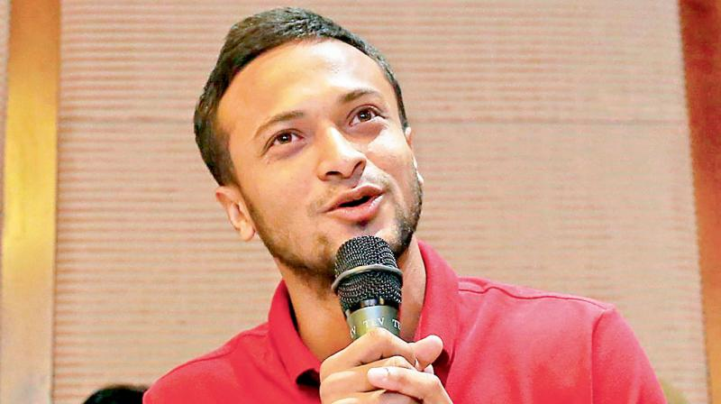 Bangladesh's star all-rounder Shakib Al Hasan. DC File Photo