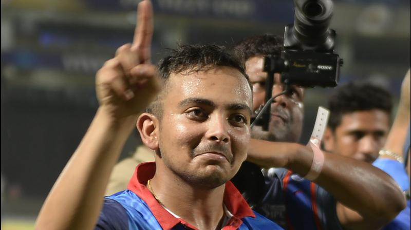 Indian cricketer Prithvi Shaw. AFP Photo