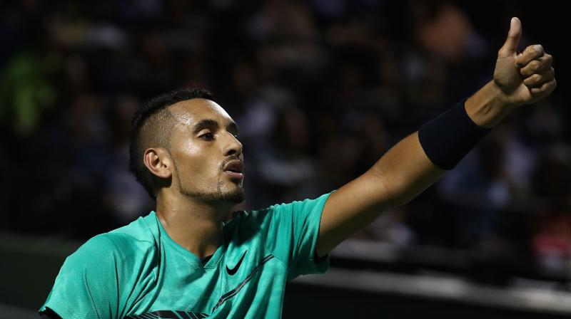 Australian tennis player Nick Kyrgios. AFP Photo