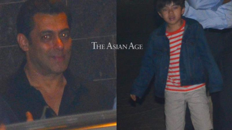 Several celebrities were seen arriving at a bash thrown by Salman Khan for his 'Tubelight' co-star Matin Rey Tangu late Monday. (Photo: Viral Bhayani)