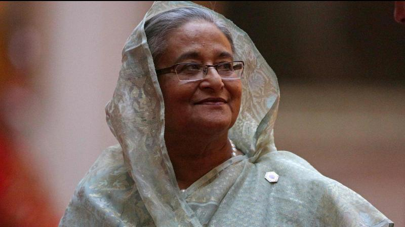 The judgement was declared on the day Hasina arrived in Beijing on an official visit. (Photo: AFP)