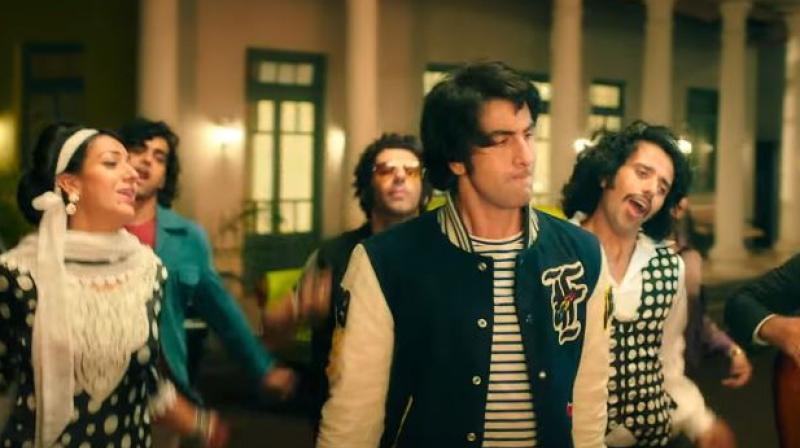 A still from 'Sanju' song 'Badhiya'.
