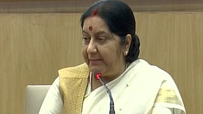 External Affairs Minister Sushma Swaraj. (Photo: ANI)