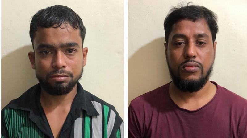 Alleged al-Qaeda terrorists arrested by the NIA in Murshidabad. — PTI photo