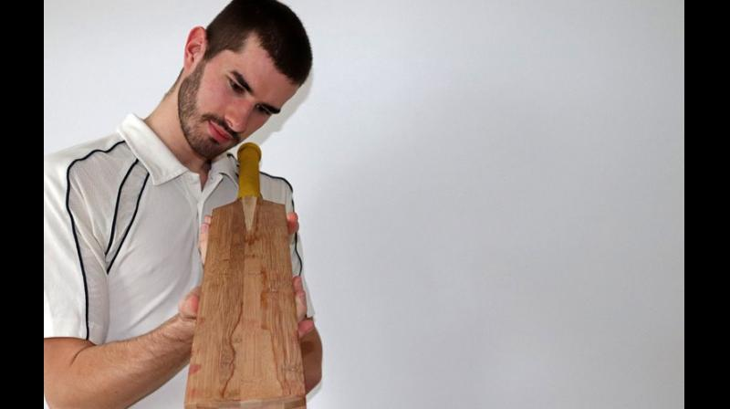 The main areas of focus were on the stiffness, hardness and frequency (sound) of the cricket bat.  — By arrangement