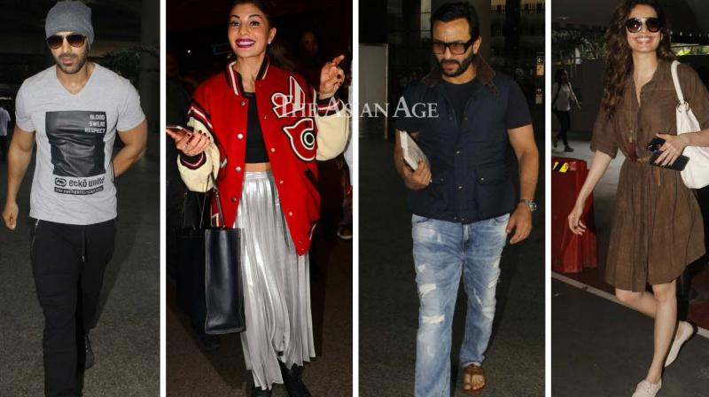 Several Bollywood celebrities were spotted at the Mumbai airport on Monday. (Photo: Viral Bhayani)