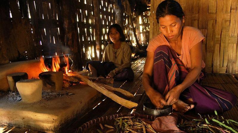 A Chakma family in Arunachal Pradesh. (AFP file photo)