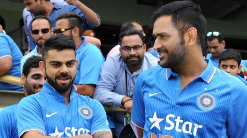 fad19b5626 Virat Kohli believes that Mahendra Singh Dhoni handled the transition  period seamlessly