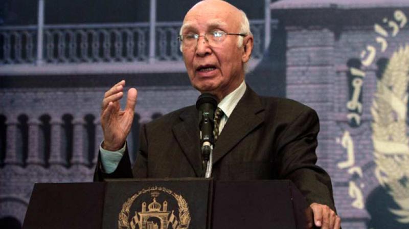 Pakistan PM's Adviser on Foreign Affairs Sartaj Aziz (Photo: AP/File)