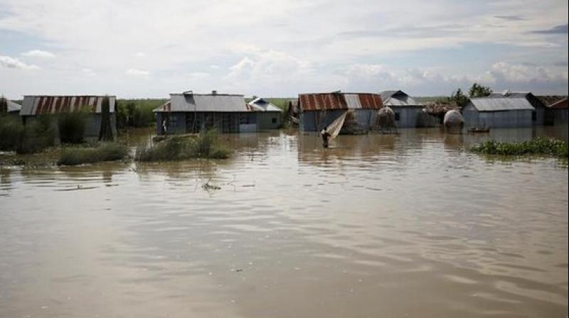 Authorities added that thousands of people have been affected in the districts while rising water levels of the major rivers left people stranded in water-logged areas, putting them at risk of water-borne diseases. (Photo: ANI)