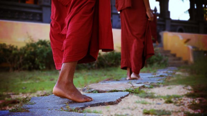 Buddhist monk Bante Sanghpriya Sujoy was arrested for sexually abusing 15 children at a meditation school in Bodh Gaya. (Representational Image | Pexels)