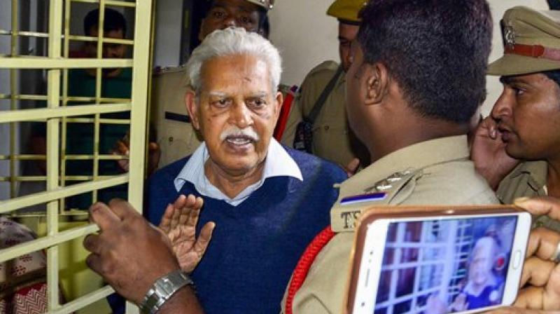Prominent Telugu poet Varavara Rao was arrested from Hyderabad. (Photo: File)