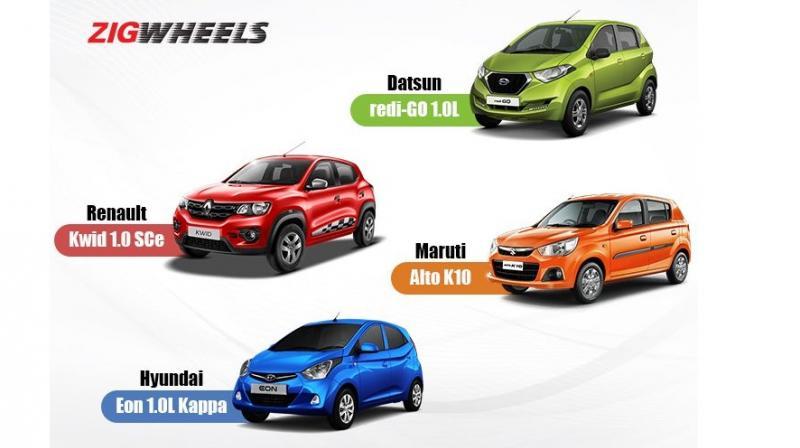 Datsun Redi Go 10l Vs Renault Kwid Sce Vs Maruti Alto K10 Vs
