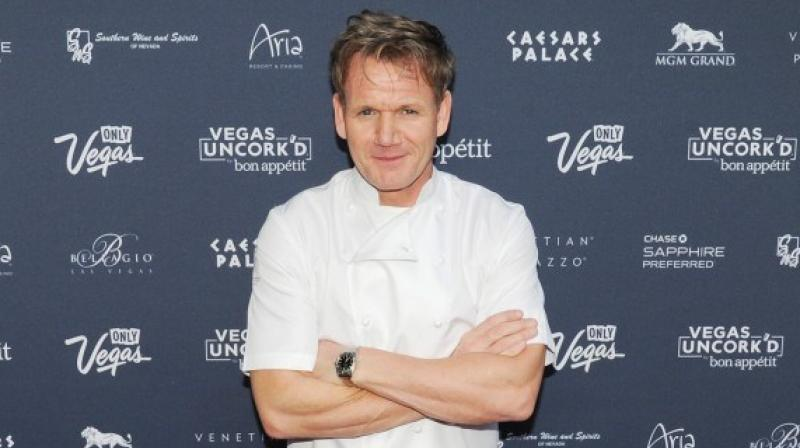 """In 2016 when asked by a follower on Twitter if he had any allergies, Ramsay wrote: """"Vegans"""". (Photo: AP)"""
