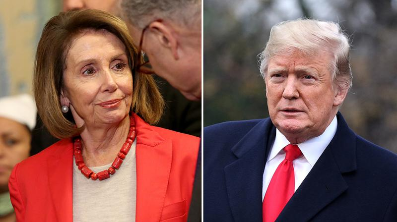 Pelosi went first, with demure shrugs and practiced sass. (Photo:AP)