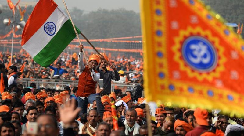 It appears that many Indians are not primarily voting on the basis of issues like the economy and their own well-being as measured by data provided by the government. (Photo: AFP)