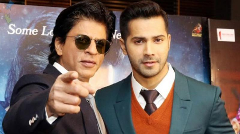 Shah Rukh Khan and Varun Dhawan during 'Dilwale' promotions.