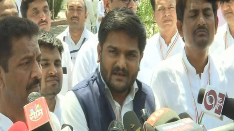 'I have said that if action is not taken against Mayor and officials of the Fire Department, then I will sit on hunger strike,' Hardik Patel said. (Photo: ANI)