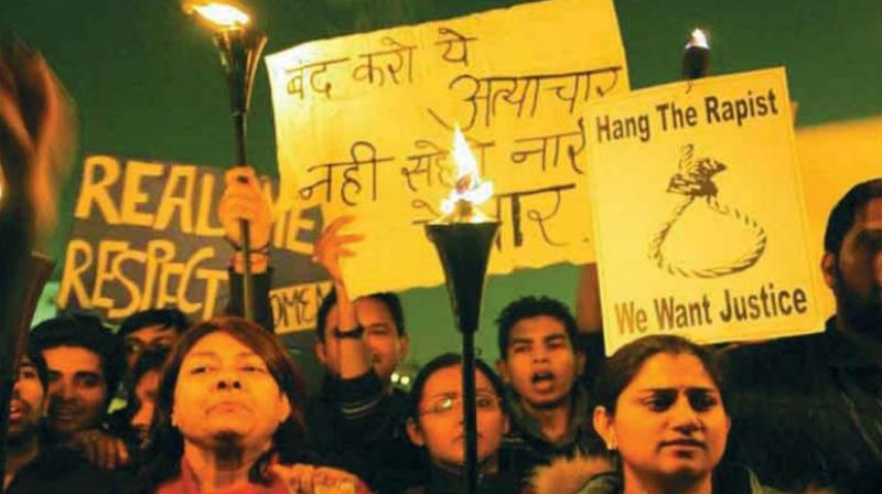Protestors demand the death sentence for the rapists shortly after the 2012 Delhi gangrape and murder. (Photo: File)