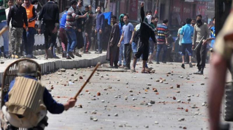 The Director General of Police said it was normal to witness 40-50 incidents of stone-pelting in a day last year. (Representational Image)