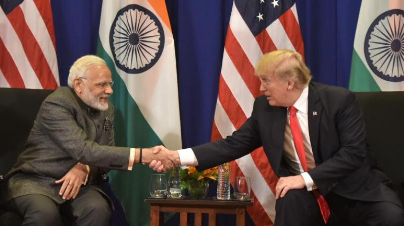 Prime Minister Narendra Modi holds bilateral talks with US President Donald Trump in Manila, Philippines, on Monday. (Photo: PIB   Twitter)