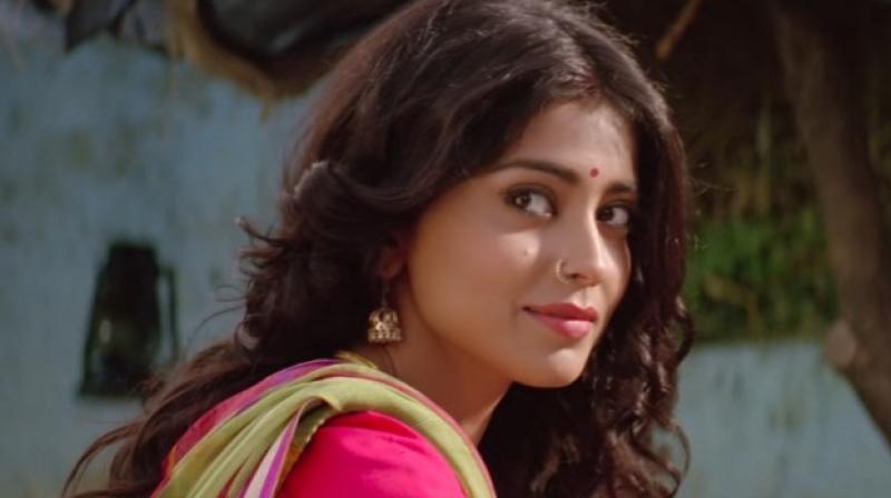 Shriya Saran in a still from 'Phamous.'