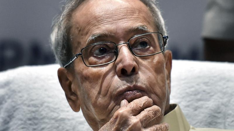 Former president Pranab Mukherjee has tweeted that he was detected as COVID-19 positive when he went to hospital for a health checkup. (PTI file photo)