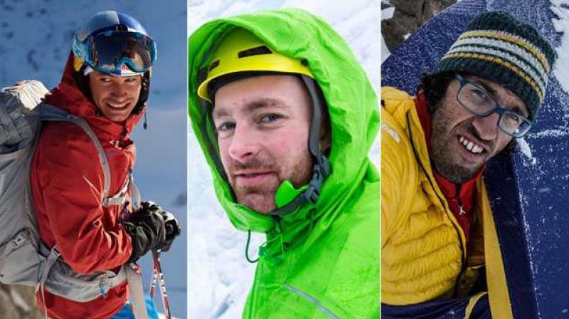 American Jess Roskelley, 36, and Austrians Hansjorg Auer, 35, and David Lama, 28, went missing. (Photo:Twitter)