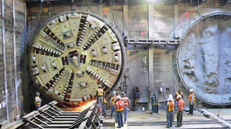 TBMs are required to excavate the underground corridor.