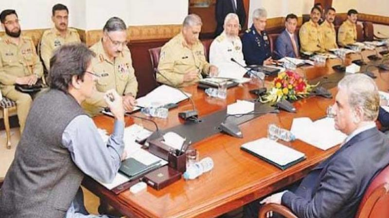 Pakistan Prime Minister Imran Khan chaired the meeting. (Photo: Twitter)