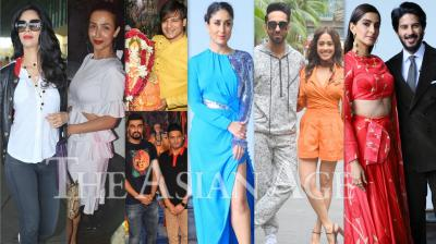 Bollywood celebrities like Kareena Kapoor Khan, Vivek Oberoi, Sonam Kapoor, Arjun Kapoor, Malaika Arora, Mallika Sherawat, Vivek Oberoi and others spotted in the city of dreams, Mumbai. (Photos: Viral Bhayani)