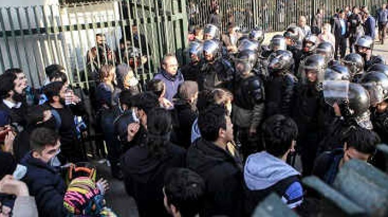 The protests began in Mashhad against high living costs and the struggling economy before spreading quickly to other areas and turning against the Islamic regime as a whole. (Photo: AP)