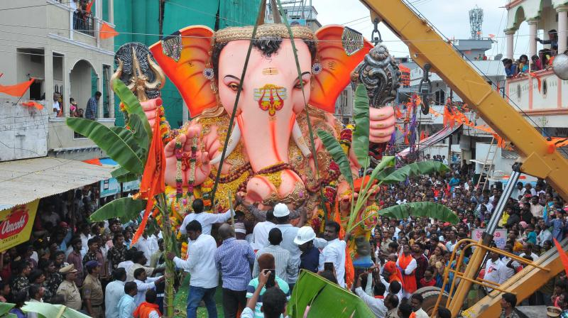 Lalbaugcha Raja Ganesh Mandal on Wednesday announced cancellation of the Ganesh Chaturthi celebration this year in view of the COVID-19 pandemic. (PTI Photo)