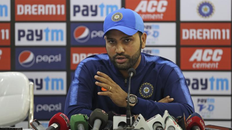 As India and Bangladesh get ready to lock horns in the second T20I of the three-match series, skipper Rohit Sharma on Wednesday said that the side is looking to give younger players an opportunity to make them ready for the other formats of the game.  (Photo:AP)