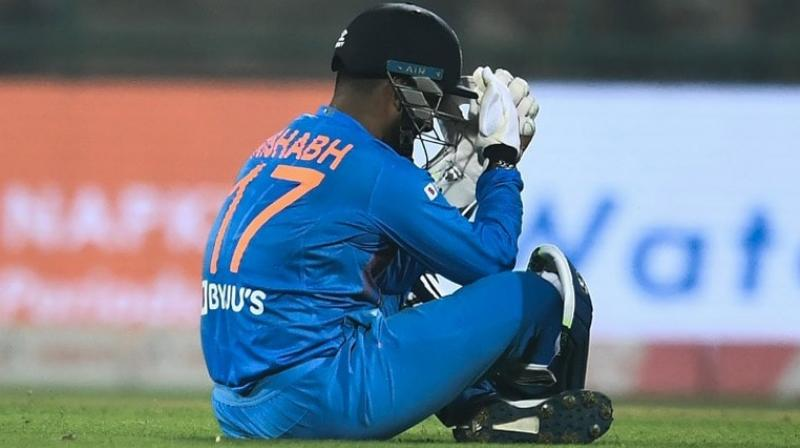 India chief selector MSK Prasad said that Rishabh Pant's batting performance in the recent series has improved but he needs to improve his wicket-keeping skills under the guidance of a specialist coach. (Photo:AFP)