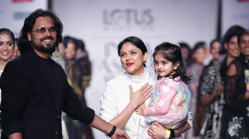 Designer Rahul Mishra presents his collection at the Lotus Make-up India Fashion Week AW 19. (Photo: File)